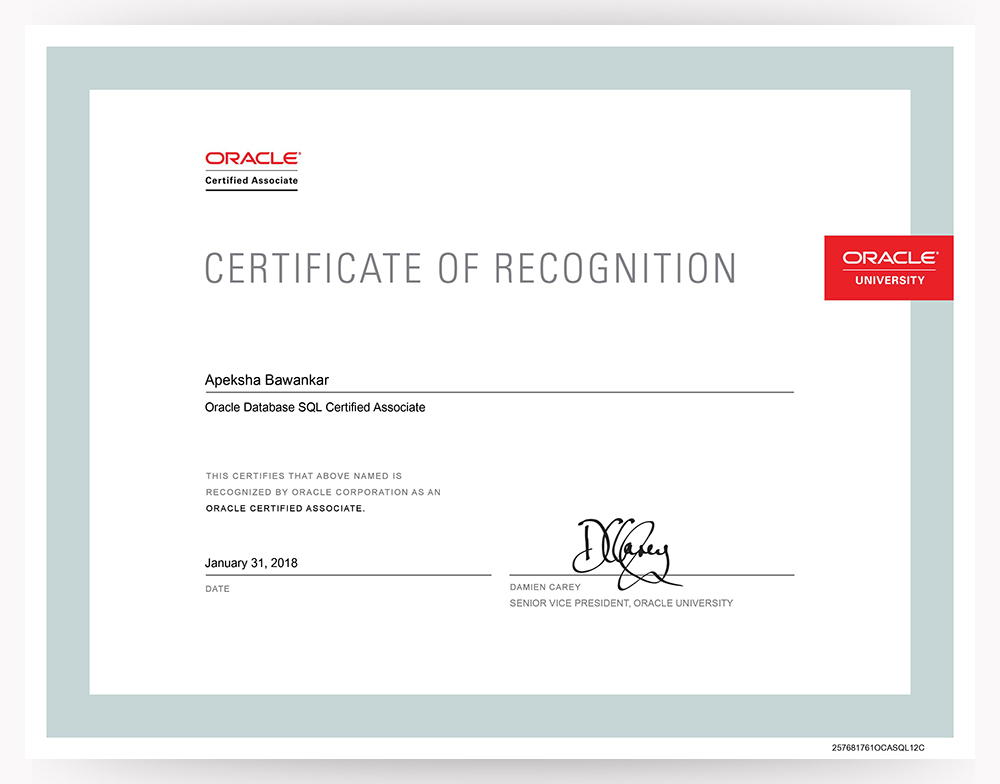 Oracle Database 12c Sql 1z0 071