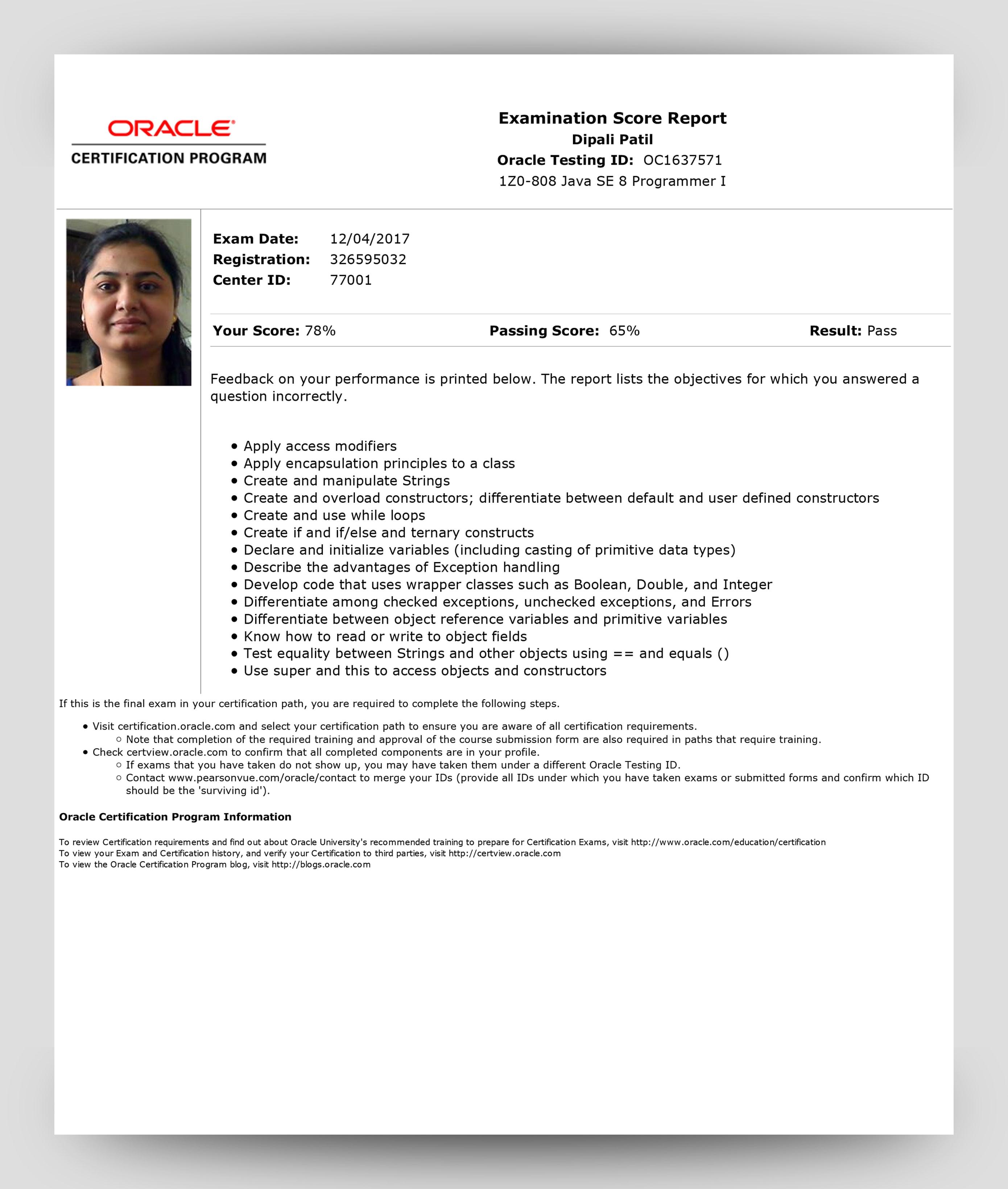 Java Se 8 Oca Ocp Exam Code 1z0 808 1z0 809